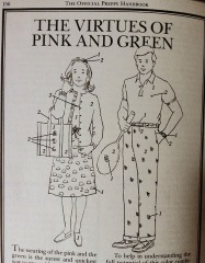 pink and green official preppy handbook halloween costume