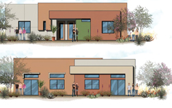 This is the artist's drawing of the new homes being built near my house.
