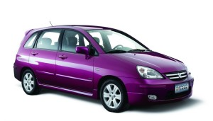 Purple-Suzuki-Liana-hatchback-car