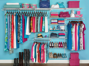 A super tidy closet. Disclaimer: not mine!
